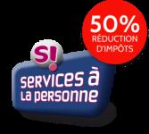logo service à la personne 50% réduction impôts